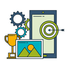 smartphone target trophy gears business