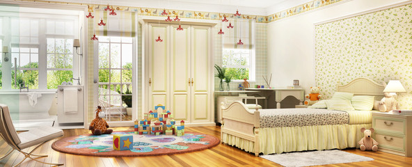 Baby room and bathroom