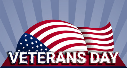 Military us veterans day concept background. Realistic illustration of military us veterans day vector concept background for web design