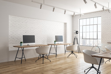 White coworking office