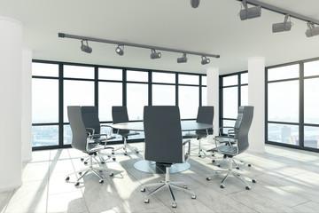 Bright meeting room interior