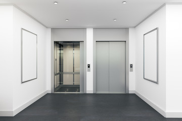 Modern interior with lift