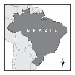 The map of Brazil