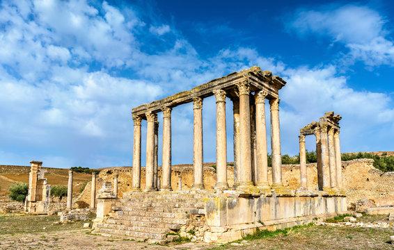 Temple of Juno Caelestis at Dougga, an ancient Roman town in Tunisia