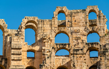 Amphitheatre of El Jem, a UNESCO world heritage site in Tunisia