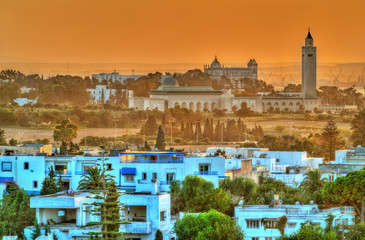 View of Sidi Bou Said and Carthage near Tunis, Tunisia
