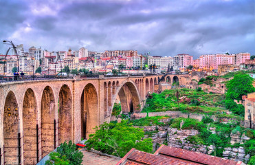 Wall Murals Algeria The Sidi Rached Viaduct across the Rhummel River Canyon in Constantine, Algeria