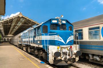 Passenger train at Oran Station in Algeria