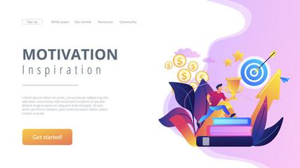 Motivation concept landing page.