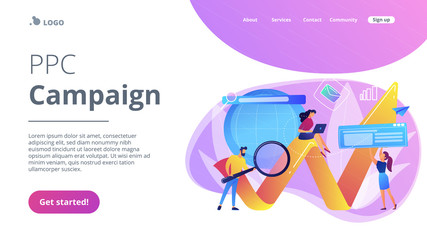 Digital marketing concept landing page.