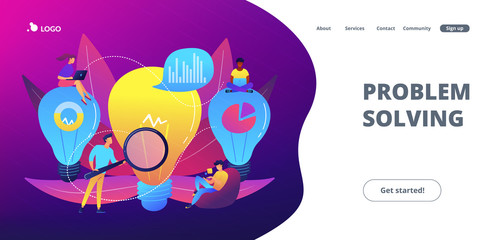 Business solution concept landing page.