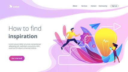 Creative inspiration concept landing page.