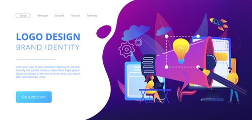 Brand identity concept landing page.