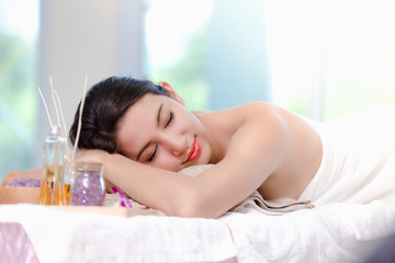 Beautiful woman spa