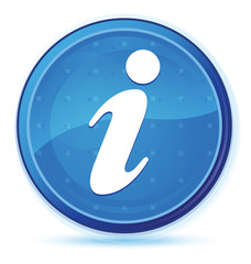 Info icon midnight blue prime round button