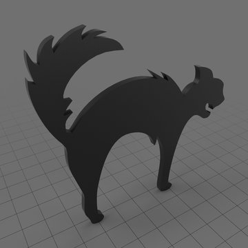 Stylized cat standing