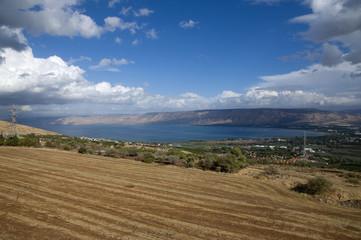 Sea of Galilee in winter