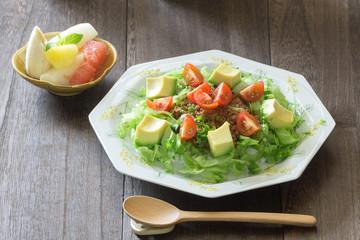 野菜とひき肉のタコライス