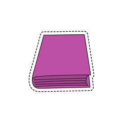 Vector sketch hand drawing book icon. Illustration on white background