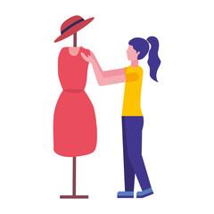 fashion designer woman with figure dress