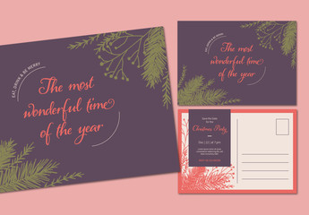 Christmas Party Postcard Layout