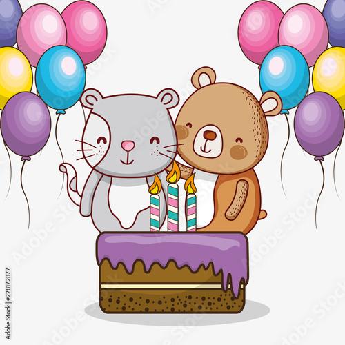 Happy Birthday Card Cartoons Fichier Vectoriel Libre De Droits Sur