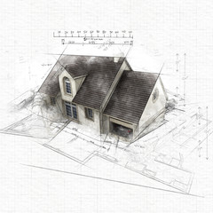 Architecture residential  sketch