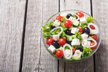 Fresh vegetables greek salad