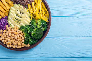 Healthy vegan salad . Buddha bowl