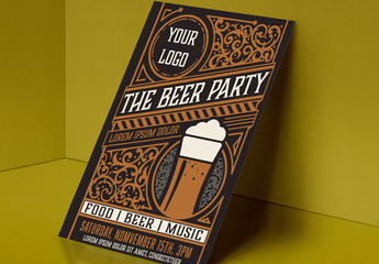 Beer Party Flyer Layout