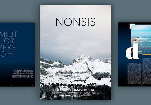 Modèle de magazine numérique moderne