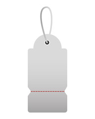 shopping online tag price on white background