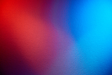 The combination of two colors of red and blue on one background