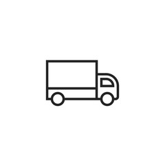 Delivery Truck Outline Icon Vector