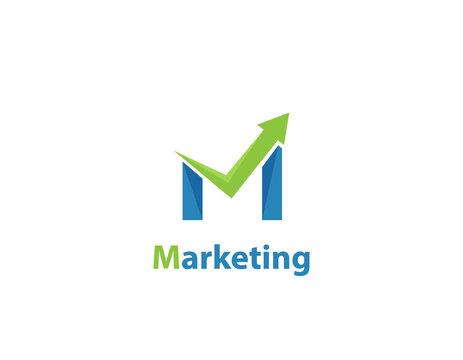 Marketing logo design - illustration