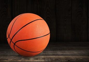 Orange Basketball ball on white background