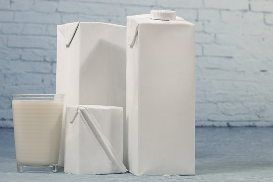 Mix of milk packages