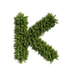 Christmas tree letter K