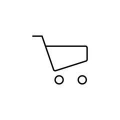 line shopping trolley icon on white background