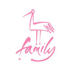 family bird template