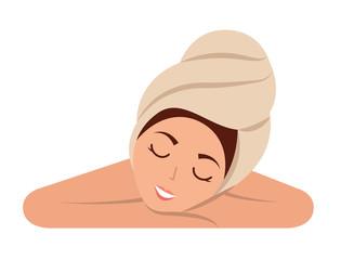 woman skin care spa