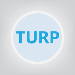 TURP (Transurethral resection of the prostate) acronym- vector illustration