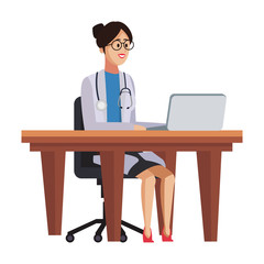 Woman doctor at office