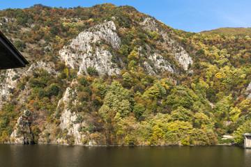 Autumn ladscape from dam of The Krichim Reservoir, Rhodopes Mountain, Plovdiv Region, Bulgaria