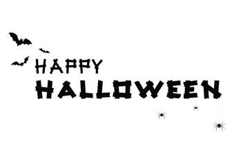 Vector Black halloween text banner