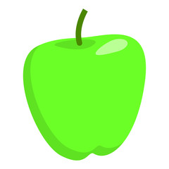 Green apple icon. Flat illustration of green apple vector icon for web design