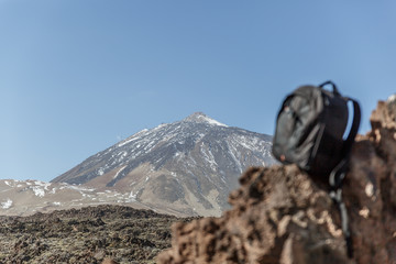 View of the Teide volcano on the island of Tenerife from a special perspective