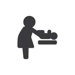Baby changer vector icon