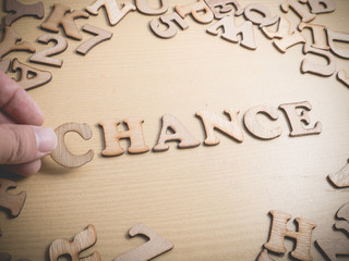 Chance. Words Typography Concept