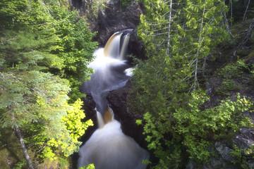 Forest waterfall in Minnesota